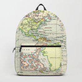 Vintage World Map (1899) Backpack