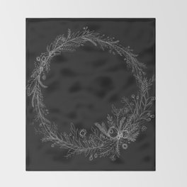 Wreaths Are The New Black Throw Blanket