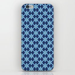 Pastel Blue Flower iPhone Skin