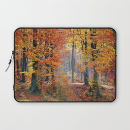 Colorful Autumn Fall Forest Laptop Sleeve