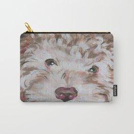 Bichon Poodle Cocker Mix Contemporary Pet Portrait Carry-All Pouch