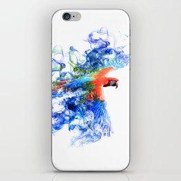 Smoking parrot iPhone Skin