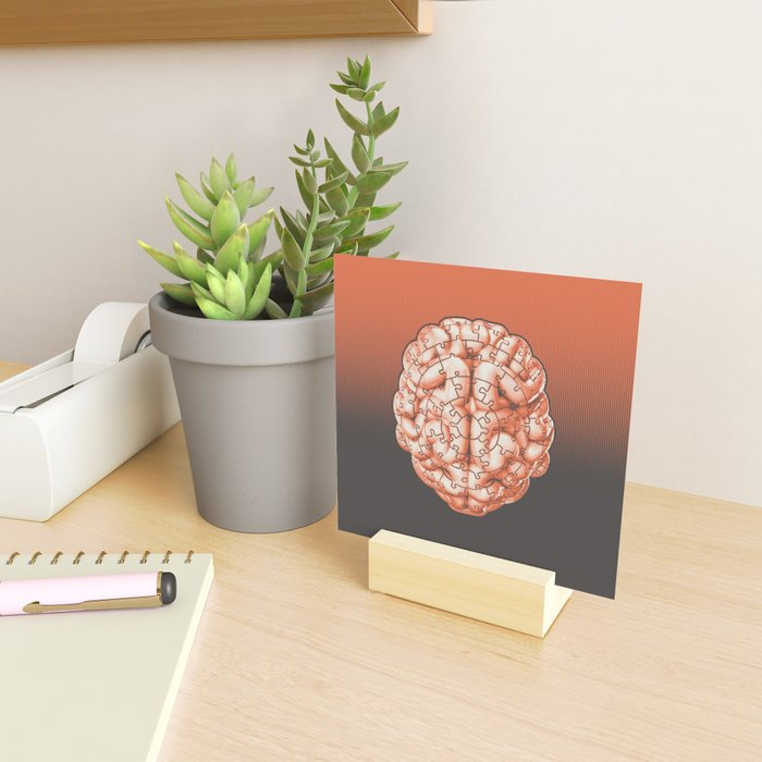 Puzzle brain GINGER / Your brain on puzzles Mini Art Print