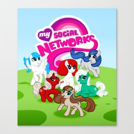 My Social Networks - My Little Pony Parody Canvas Print