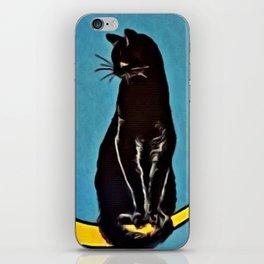 Black Cat & Moon iPhone Skin