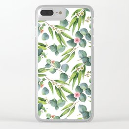 Bamboo and eucaliptus pattern Clear iPhone Case