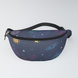 Galaxy Doodle Pattern Fanny Pack