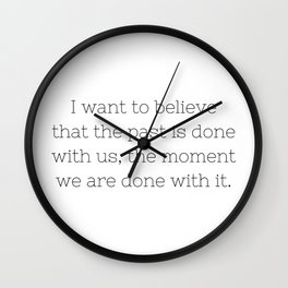 The past is done with us - Sense8 - TV Show Collection Wall Clock