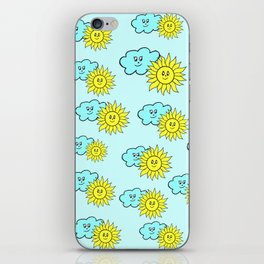 Cute baby design in blue iPhone Skin