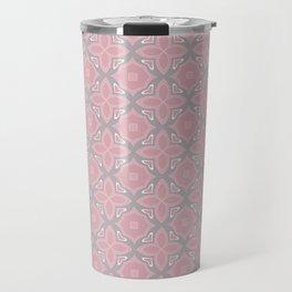 Fashionable pink and grey geometric pattern Travel Mug