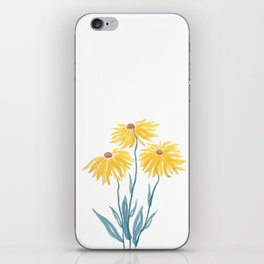 three yellow flowers iPhone Skin