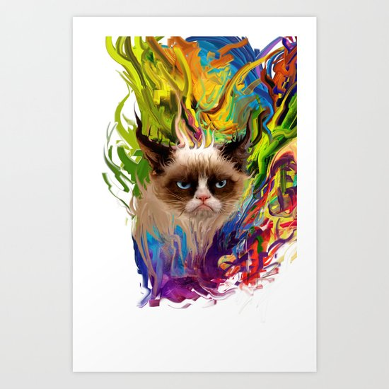 grumpys rich inner world Art Print