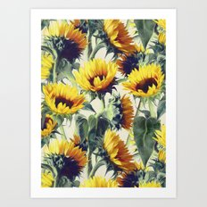 Sunflowers Forever Art Print
