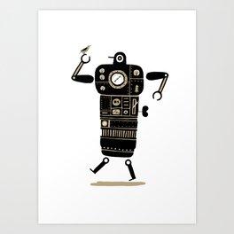 Robot with Bird Art Print