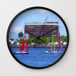 Colorful Sailboats Wall Clock