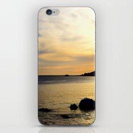 yellow sunset iPhone Skin