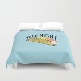 Ice Cream Taco Night Duvet Cover