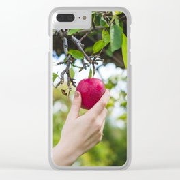Red Apple Clear iPhone Case