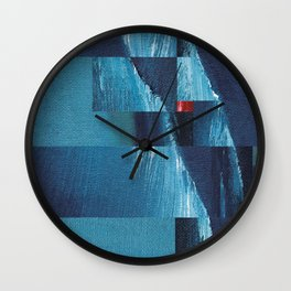 Cracking Waves (Distant Shore) Wall Clock