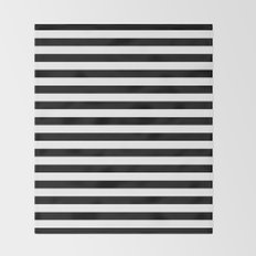 Modern Black White Stripes Monochrome Pattern Throw Blanket
