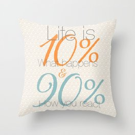 10/90 Throw Pillow