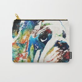 Bulldog Pop Art - How Bout A Kiss - By Sharon Cummings Carry-All Pouch