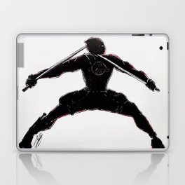 Black and Red Dead Pool Laptop & iPad Skin