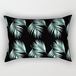Palm Leaves Pattern #2 #Mint #Black #decor #art #society6 Rectangular Pillow