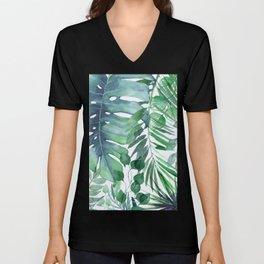 Tropical  Leaves Unisex V-Neck
