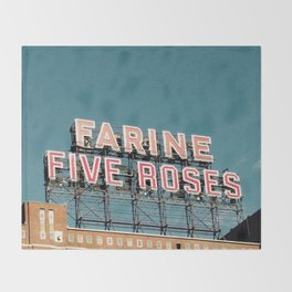Farine Five Roses Throw Blanket