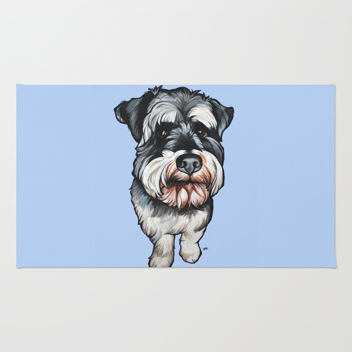Barney the Miniature Schnauzer Rug