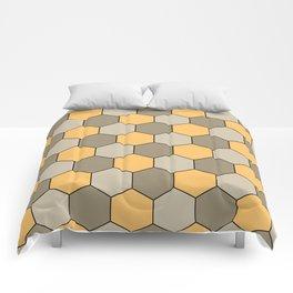 Honeycombs op art beige Comforters