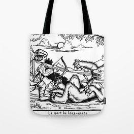 Werewolf Hunting medieval style Tote Bag