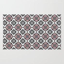 Pink Grey Pattern Rug