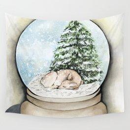 Snow Globe Wall Tapestry
