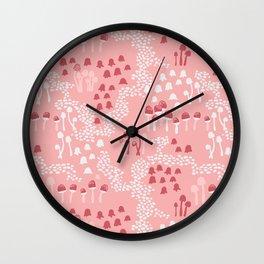 Fairy mushrooms Wall Clock