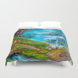 Day Moon Haven Duvet Cover