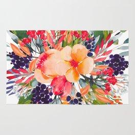 Autumn watercolor bouquet Rug
