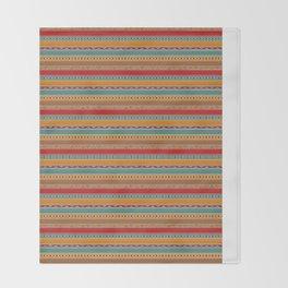 Tribal ethnic seamless pattern design Throw Blanket