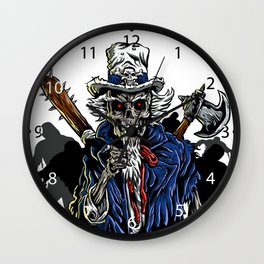 Zombie Uncle Sam  Wall Clock