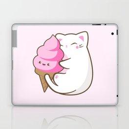 Ice cream lover chubby cat Laptop & iPad Skin