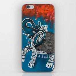 Dancing Elephant in Autumn iPhone Skin