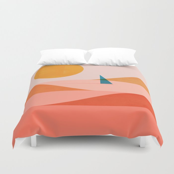 Abstraction_Sailing_Ocean_002 Duvet Cover