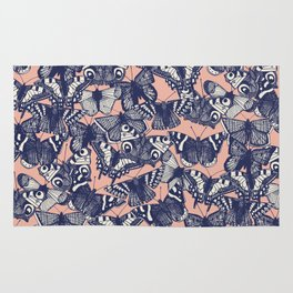 butterfly pale coral Rug