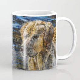 One Wet Golden Retriever by Teresa Thompson Coffee Mug
