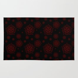 Anti Possession Pattern Red Glow Rug
