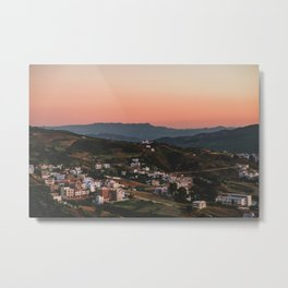 Chefchaouen Sunset Metal Print