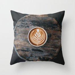 Coffee Latte Throw Pillow
