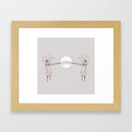 GirlCosmicHeart Framed Art Print