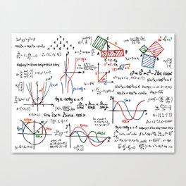 Math Cheat Sheet Canvas Print